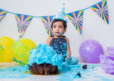 1 year old boy cake smash
