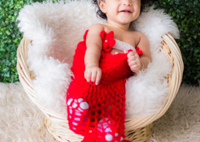 botanik photo studio baby girl in red mermaid costume