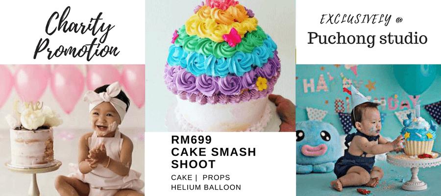 Puchong cake smash promo banner