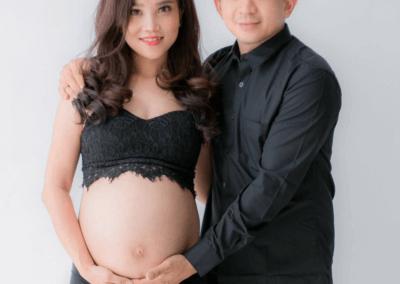 pregnancy shoot at Bandar Botanik Studio