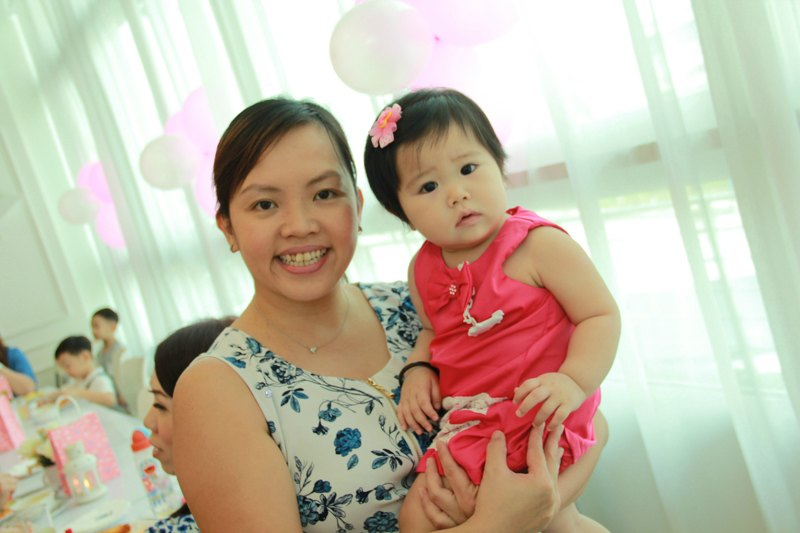 1st year baby girl birthday party photo
