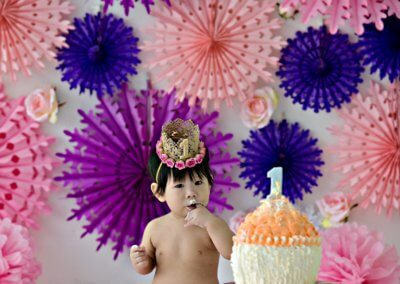 Flowery Cake Smash Theme