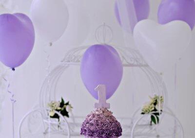 purple cake smash theme